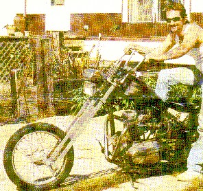 Victor David with his bike before his reversion to Islam